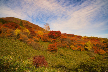 【おすすめ紅葉スポット】那須高原・那須ロープウェイから臨む茶臼岳
