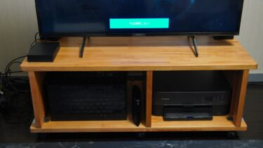 【DIY】パイン集成材で理想のテレビ台を自作!必要なものまとめ